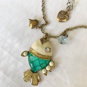 Betsey Johnson Piranha Fish Necklace
